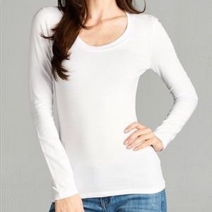 White Long sleeve LAYERING T-SHIRT Sizes S M L